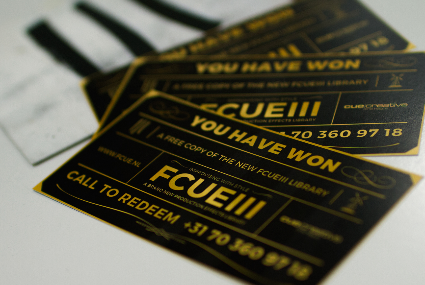 With a golden ticket, you receive a completely free FCUE III library for your usage